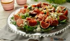 Sałatka z szynką dojrzewającą i figami