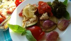 Zapiekane warzywa z mozzarellą